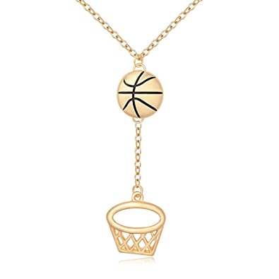 Amazon.com  MANZHEN Personalized Gold Silver Basketball Hoop Sports Charm  Pendant Necklace Jewelry for Women(gold)  Jewelry e7044302ae