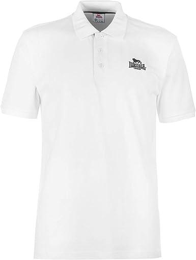 Lonsdale Hombre Plain Camiseta Polo Manga Corta