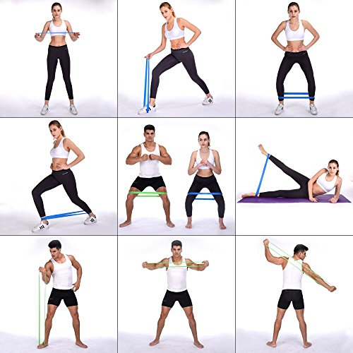 Resistance Bands for Legs and Butt BST Power 12 Inch Resistance Loop Bands for Women and Men Stretching Fitness Bands for Home Working Out with Carry Bag ( 5 Pack)