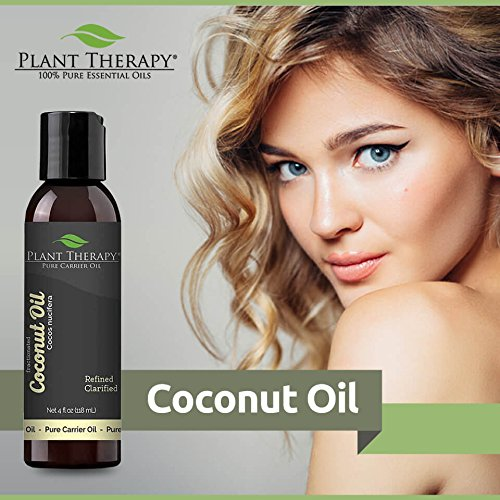 Plant Therapy Coconut (Fractionated) Carrier Oil. A Base Oil for Aromatherapy, Essential Oil or Massage use. 4 oz.