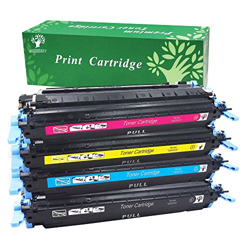 GREENSKY Compatible Toner Cartridge for 124A (1xQ6000A 1xQ6001A 1xQ6002A 1xQ6003A) Use in Color LaserJet 1600 2600n 2605dn 2605dtn CM1017 CM1015 MFP Printer-(1B1C1Y1M, (Cm1017 Magenta Toner)