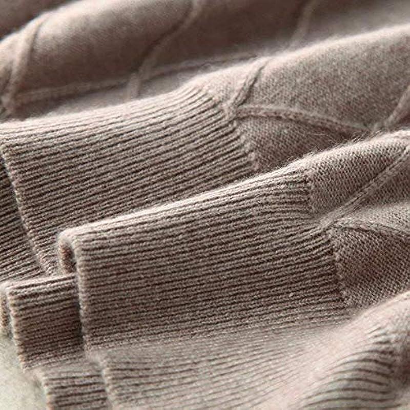 Męski kaszmir okrągły dekolt sweter czas wolny zima długi rękaw komfort prosty styl Fit elegancki standardowy lakier sweter z dzianiny sweter: Odzież
