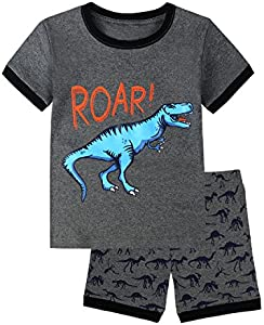 Sweepstakes: Skypiea&Co. Boys Pajamas Dinosaur 100% Cotton Toddler…