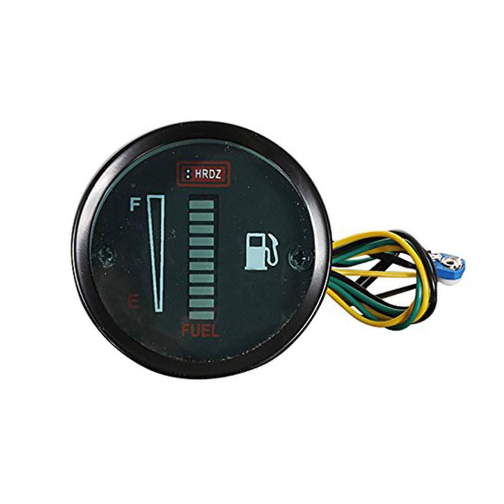 Yililay universale elettronico 5,1/cm oil gauge Volt 52/mm digitale blu LED analogico misuratore di indicatore fum/é auto a benzina Meter auto parts