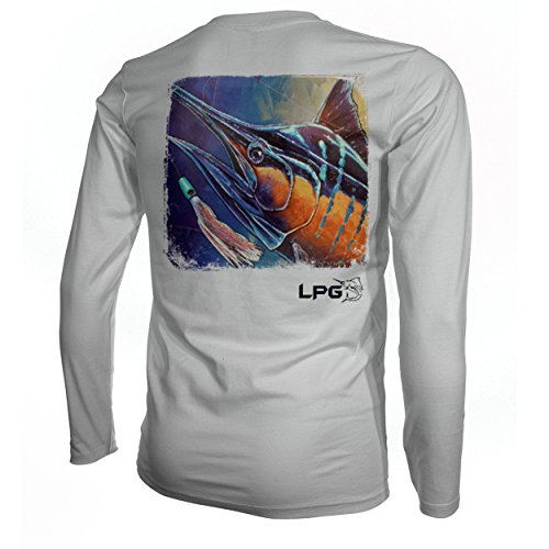 - LPG Electric Marlin Florida Keys Inspired Long Sleeve UPF 50 Sun Protection Performance Shirt (XL)