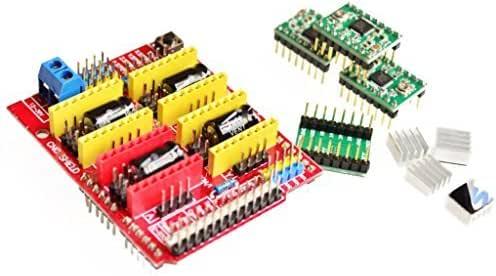 qunqi controlador A4988 CNC Shield Junta de expansión para Arduino ...