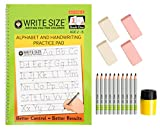 made in usa pencil sharpener - Handwriting workbook w 10 pencils + sharpener + erasers