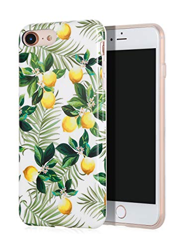 SunshineCases【Botanical Citrus Palm Leaves】 Flexible, Thin, Non-Slip Case Design【Compatible: Apple iPhone 8 & iPhone 7】