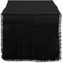 DII 15x74 Jute/Burlap Table Runner, Black - Perfect for Halloween, Dinner Parties, BBQs and Everyday Use
