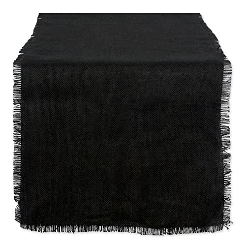 DII 15x110' Jute/Burlap Table Runner, Black - Perfect for Halloween, Dinner Parties, BBQs and Everyday Use