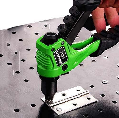 Manual Rivet Nail Gun,Hardness Alloy Steel Woodworking Metalworking Rivet Gun,Labor-Saving Nail Plucking Tools 04 06
