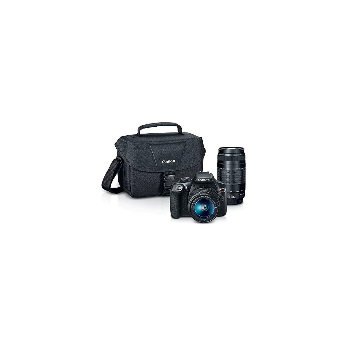 SaleProductsOffer - No.1 Best Online Store 51MxzH0J3WL Canon Digital SLR Camera Kit [EOS Rebel T6] with EF-S 18-55mm and EF 75-300mm Zoom Lenses - Black