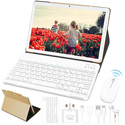 """10"""" Tablet Android 10 OS GOODTEL G3 Tablets with Quad-Core 4GB RAM 64GB ROM, Dual Cameras (5MP + 8MP) 