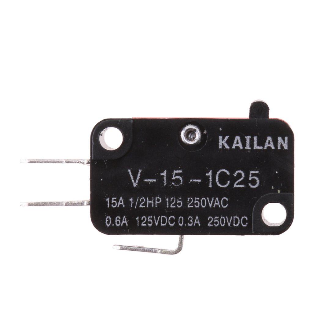 125V 15A SPDT 1NO 1NC Rodillo Largo Palanca Brazo Micro Interruptor FLAMEER AC 480V 250V