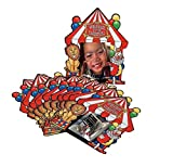 New Everyday Carnival Circus Big Top Tent Party Favor Photo Cards (Pack of 12)