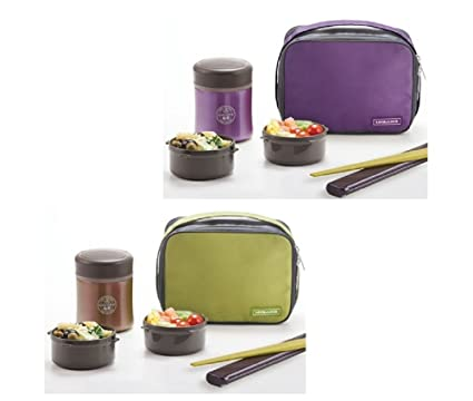 af1e3d6394d3 Amazon.com: Lock&Lock Mime Thermal Lunch Box 450ml (Green): Kitchen ...
