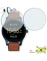 2 x DISAGU ClearScreen screen protection film for Fossil Q Marshal antibacterial, BlueLight filter protective film