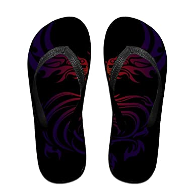 a681c56ae8d29e Amazon.com  Couple Flip Flops Phoenix Silhouette Print Chic Sandals Slipper  Rubber Non-Slip Spa Thong Slippers  Clothing