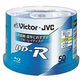 ビクター 映像用ブルーレイディスク 25GB 4倍速 スピンドル 50枚 台湾製 BV-R130U50W