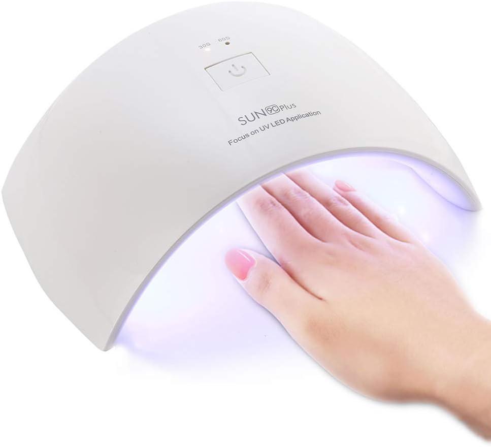 Lámpara de Uñas UV 36W, CompraFun Lámpara UV y LED Secador Profesional de Uñas, Luz Doble Sensor Automático Temporizador 30s y 60s, Uso en Casa Salón Secado Esmalte y Gel, Juego de Cortauñas Incluido