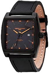 Jorg Gray Leather Black Dial Men's watch #JG5200-18