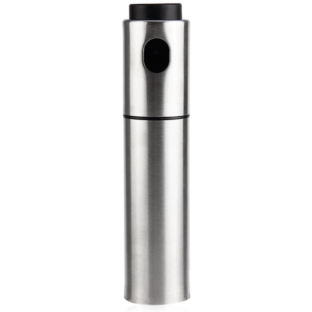 BISOZER Portable Stainless Steel Oil Sprayer for Kitchen Cooking, Grill/Pan Greaser, Salad Dressing Mister, Refill Olive Canola Vegetable Coconut Vinegar-Give You a Healthy Life BISOZER-Home