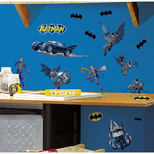 (RoomMates Batman Gotham Guardian Peel and Stick Wall Decals)