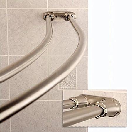 Bennington Adjustable Double Curved Shower Curtain Rod Oil Rubbed Bronze CSR008