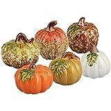 Ceramic Decorative Pumpkin Fall Halloween Thanksgiving Decor Assorted Warm Centerpiece Holiday Figurines ~ USA SELLER ~ FAST SHIPPING~