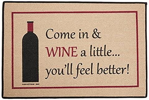 High Cotton Wine a Little Mat (Humor Doormat)