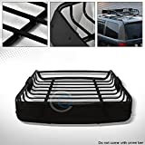 AutoBotUSA Black Roof Rack Basket Car Top Cargo Baggage Carrier Storage W/Wind Fairing C01