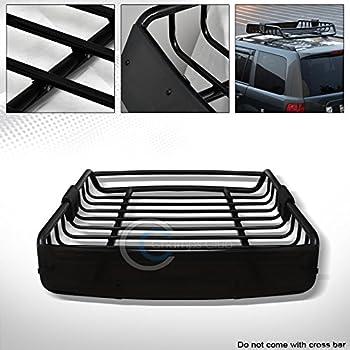 Ru0026L Racing Black Roof Rack Basket Car Top Cargo Baggage Carrier Storage  W/Wind Fairing