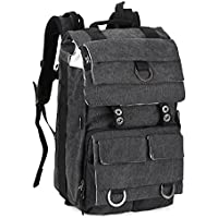 Camera/Laptop Backpack, DSLR Camera Travel Backpack with Tablet Compartment for Sony Canon Nikon Olympus Cameras,Lens and Accessories (Black)