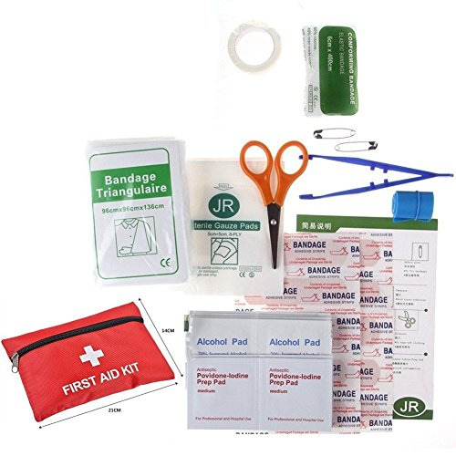 MIJORA-43 PIECES / SET FIRST AID EMERGENCY KIT CAR BIKE HOME MEDICAL BAG OUTDOOR SPORT by MIJORA