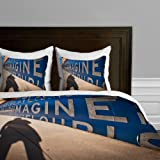 Deny Designs Bird Wanna Whistle Wall Duvet Cover, Twin/Twin XL