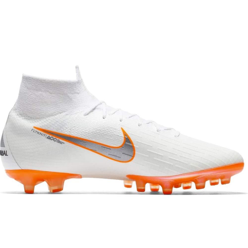 Nike Superfly 6 Elite AG Firm GroundCleats (10.5 D(M) US) White/Orange