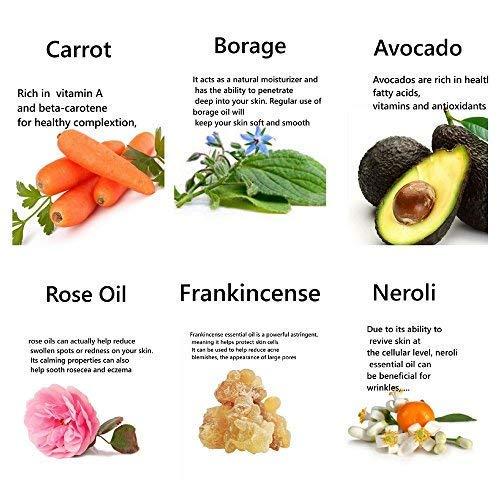 ... 50 ml, para todos los tipos de piel, impregnado con incienso de rosa y neroli con una mezcla de aceite de germen de trigo, borraja, aguacate y vitamina ...