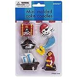 Pirate's Treasure Mini Cake Candles 6ct