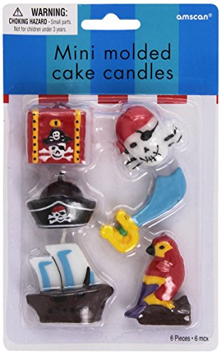 Mini Molded Cake Candles (Pirate's Treasure Mini Molded Cake Candles)