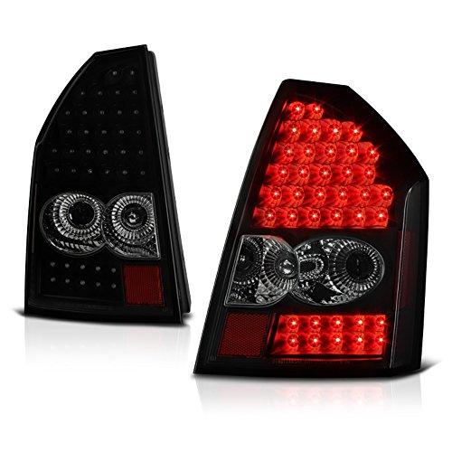 VIPMOTOZ Black Smoke LED Tail Light Lamp Assembly For 2005-2007 Chrysler 300, Driver & Passenger Side ()