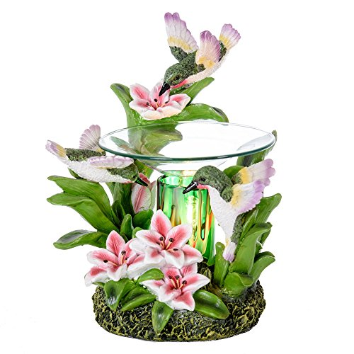 Hummingbird Oil Burner - Wax Melter - Illuminating Light & Great Aroma - Poly Resin Material