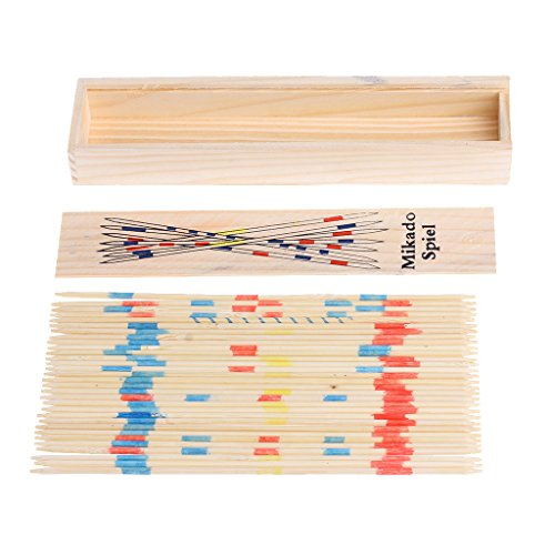 Bettal Pick Up Sticks Set Traditional Game With Box Toy, 1 Set, Wooden