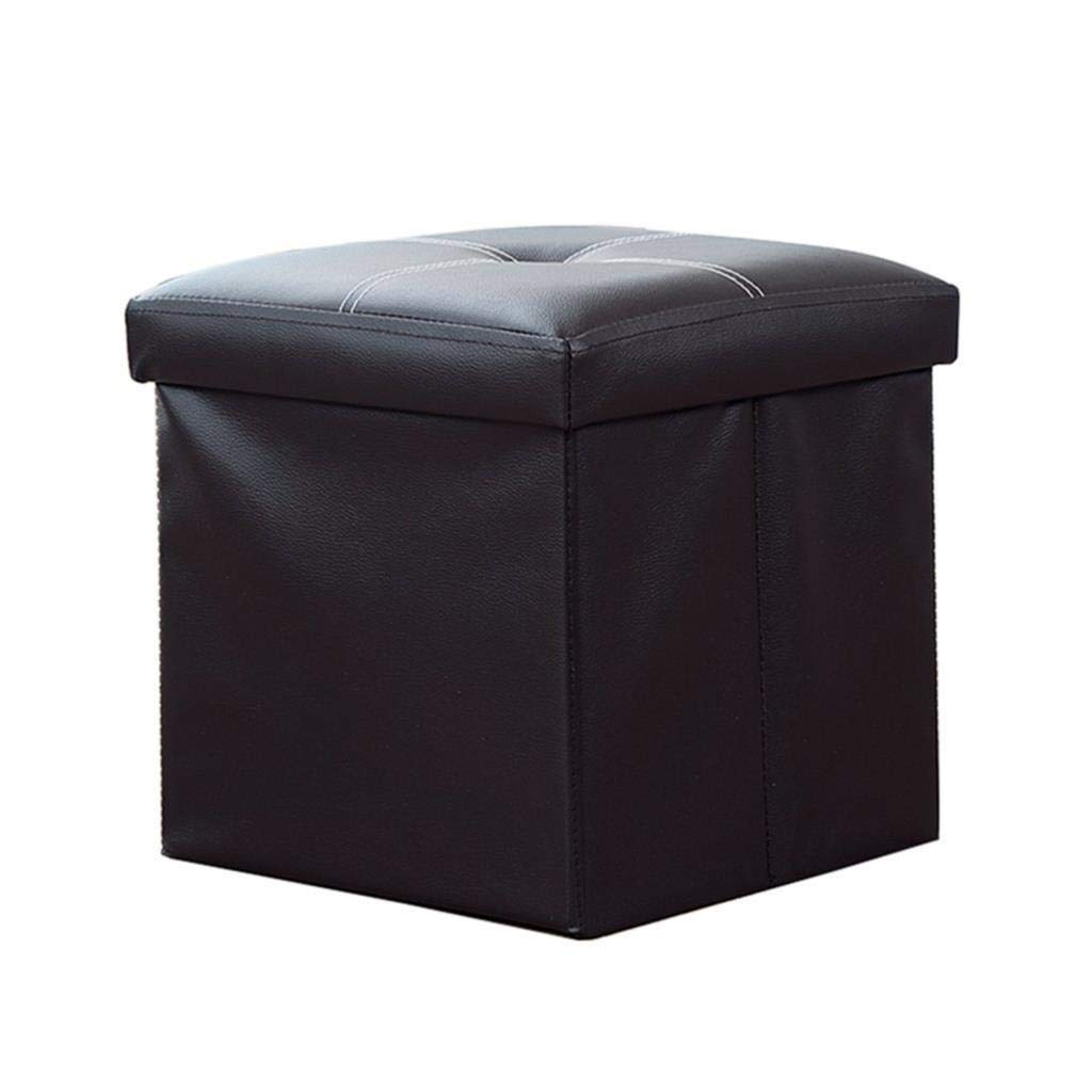Shoe Stool, Square Storage Stool, Makeup Stool, Coffee Table Storage Stool, Artificial Leather Dressing Makeup Stool Corridor Living Room Bedroom Dining Room, Bearing Capacity 150 Kg 35x35x30cm by CS-JZ