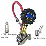 #8: Healink Digital Tire Inflator with Pressure Gauge, 150 PSI Air Tire Inflator with Dual Head Chuck and Backlit LCD for Car Motorcycle Bike Truck All Vehicles