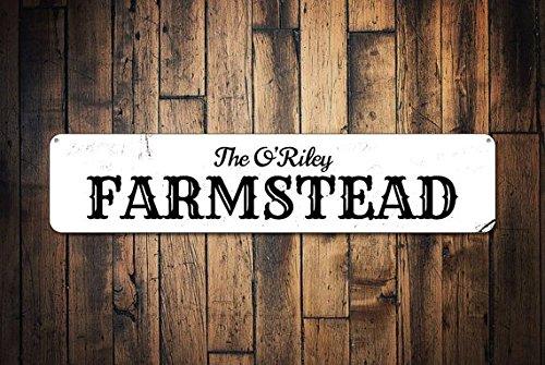 Farmstead Sign, Personalized Family Name Sign, Custom Farm Kitchen Decor, Metal Farm Owner Sign, Farm Decor,Metal Sign, 4