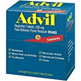 Advil Ibuprofen, 200mg, 50 Packets of 2 Coated Tablets (Pack of 5)