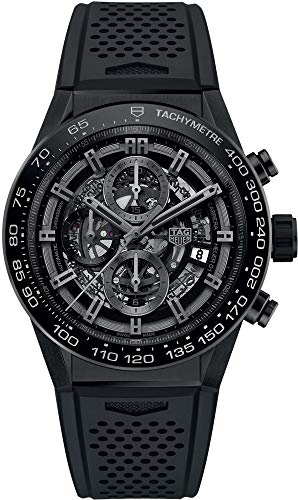 TAG Heuer Carrera Black Skeleton Dial 45mm Men's Watch CAR2A90.FT6071