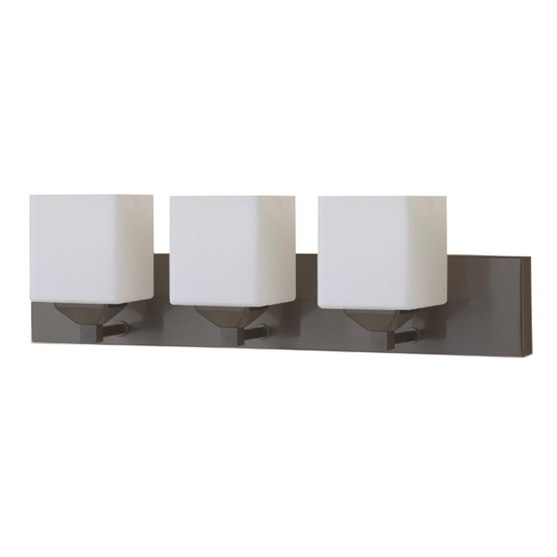 LB74117 LED 3-Light Bath Vanity Light, Oil Rubbed Bronze, Opal Glass, 25-Watt (180W Equvi.) 4000K Cool White, 1750 Lumens, 24''W, LED Wall Sconce Fixture, ETL and ENERGY STAR Listed