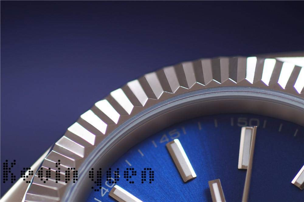 JFfactory ny automatisk mekanisk herrklocka Datejust rostfritt stål safir silver grön svart blå grå klockor 36 mm AAA+ BLÅ