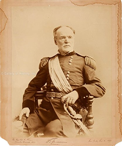 General William T. Sherman - Inscribed Photograph Signed 02/08/1890